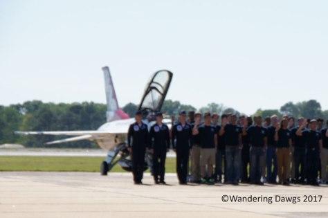 U.S. Air Force recruits being sworn in