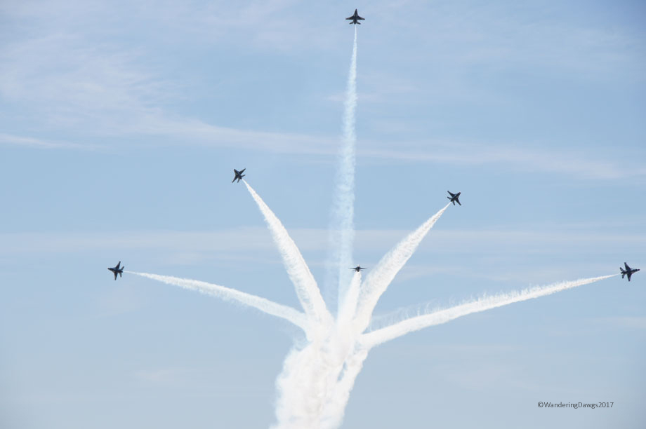 U.S.A.F. Thunderbirds at Maxwell Air Show
