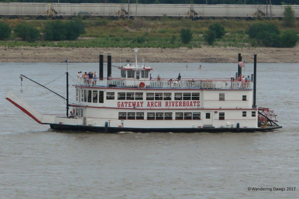 Gateway Arch Riverboat on the mighty Mississippi River