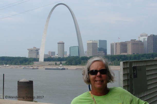 Gateway Arch as seen from across the river in Illinois
