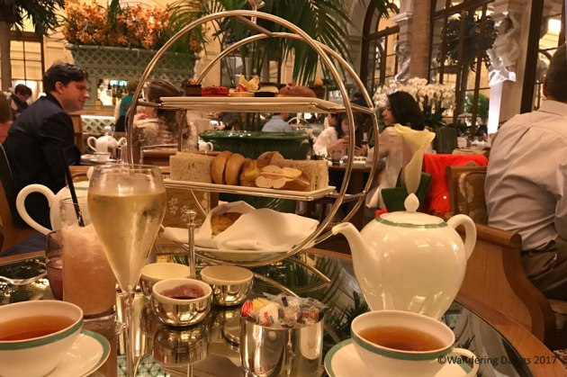 New Yorker Tea in the Palm Court of the Plaza Hotel