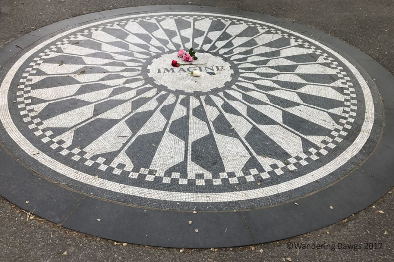 John Lennon Memorial in Strawberry Fields in Central Park
