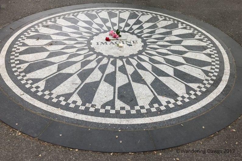 John Lennon Memorial in Strawberry Fields in Central Park