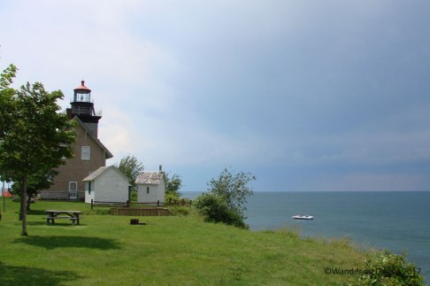 Thirty Mile Point Lighthouse overlooking Lake Ontario