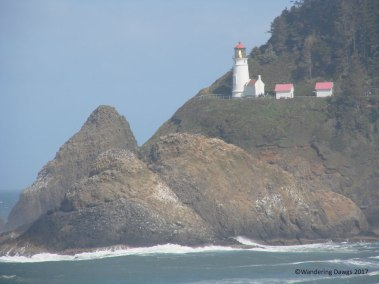 Haceta Head Lighthouse as seen from the Sea Lion Caves