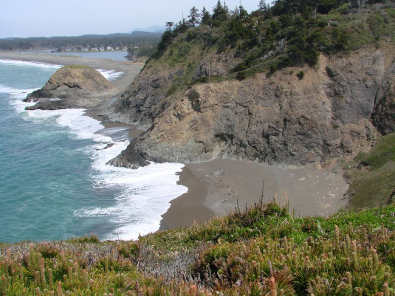 Beach from an overlook at Port Orford