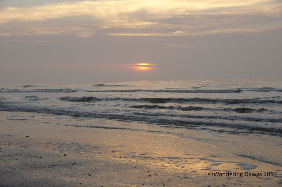 Sunrise over the Gulf at Galveston Island State Park