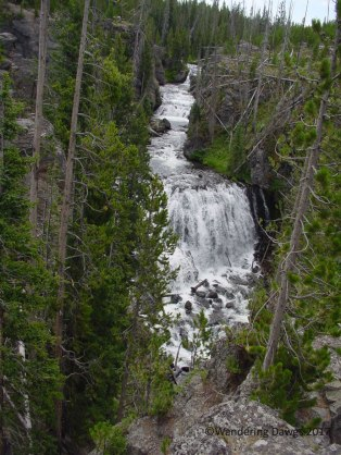 Waterfall along Yellowstone Lower Loop Road