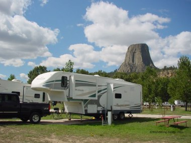 We loved seeing the Devils Tower from our campsite