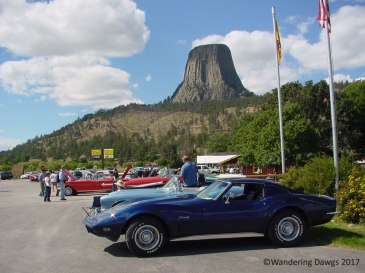 There was a car show going on just out side the Devils Tower National Monument when we arrived