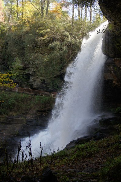 Dry Falls in the Nantahala National Forest near Highlands, NC