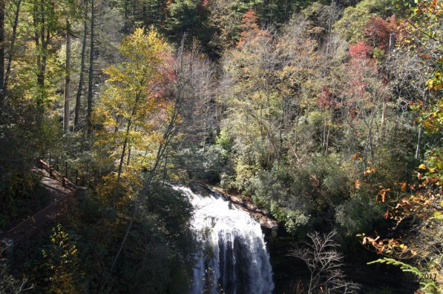 Dry Falls near Highlands, NC in the Nantahala National Forest