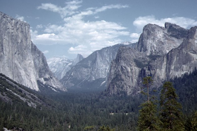 My Dad's slide of Yosemite Valley, 1959