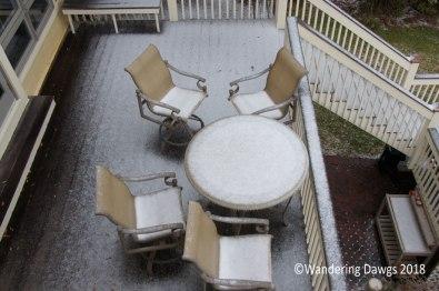 Snow on the deck