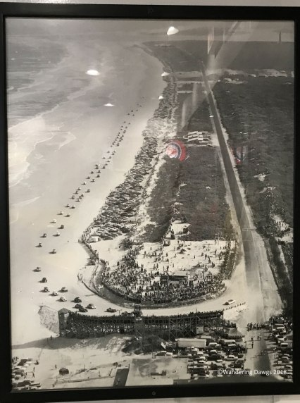 Old photo from when the race was held on the beach