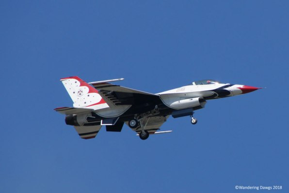 The USAF Thunderbirds flew right over the campground during their Saturday practice