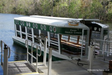 Glass bottom boat at Silver Springs