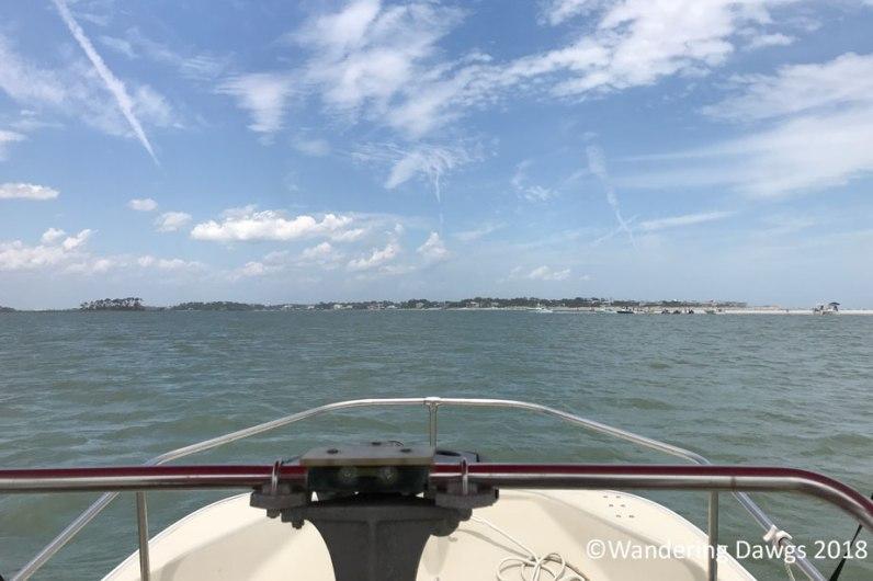 Boat ride in Georgia waters near Tybee Island