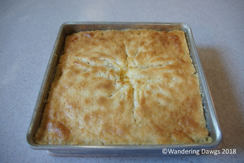 Peach Cobbler made with fresh Georgia peaches