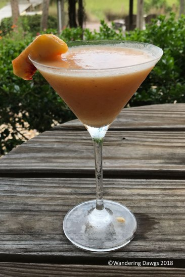 Peach Daiquiri with fresh Georgia peaches