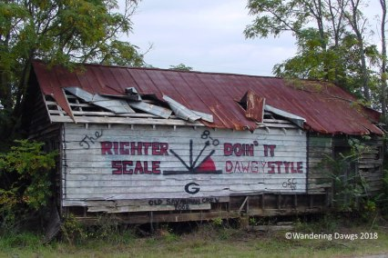 UGA Football Barn Sign 10-29-2002