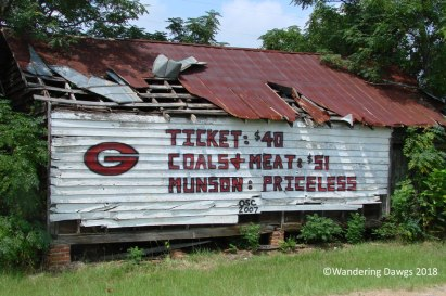 UGA Football Barn Sign 8-27-2007