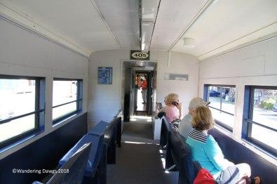 Open air seating on the Blue Ridge Scenic Railway
