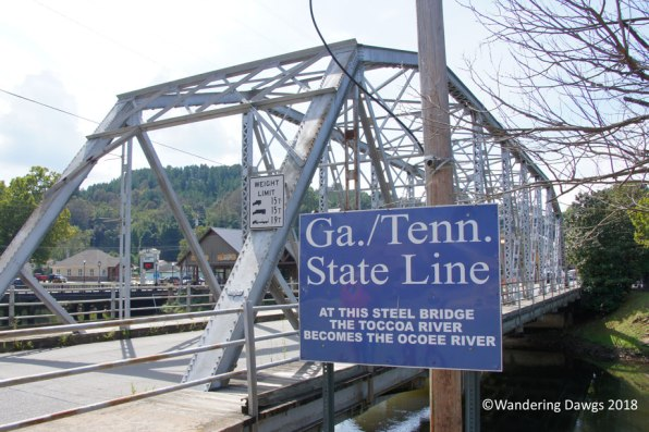 The GA/TN state line runs through the towns of McCaysville, GA and Copperhill, TN