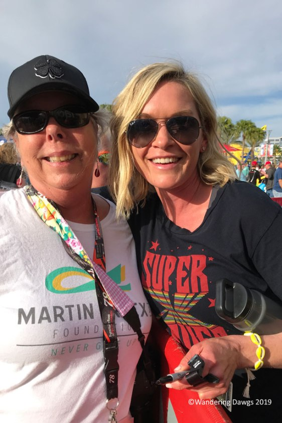 Beth with Sherry Pollex, advocate for ovarian cancer awareness and girlfriend of Martin Truex, Jr