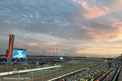 Sunset before the Friday night truck race