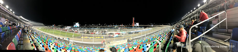 Panoramic view of the Daytona International Speedway