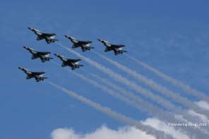 Flyover by the United States Air Force Thunderbirds
