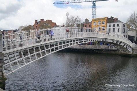 Ha'Penny Bridge across the River Liffey, Dublin