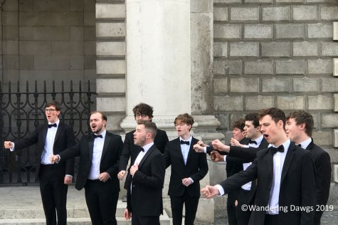 We stopped to listen to the talented singers as we strolled around Trinity College