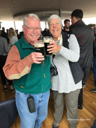 Sláinte! My first taste of Guinness at the Gravity Bar at the Guinness Distillery