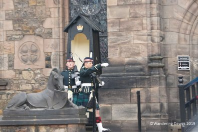 Changing of the guard at Edinburgh Castle