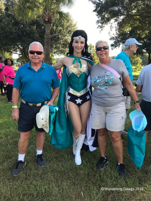With Teal Wonder Woman