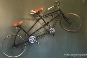 Antique bicycle built for two