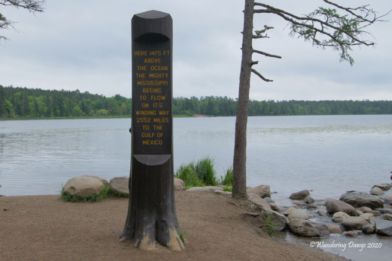 Marker at the Headwaters of the Mississippi River